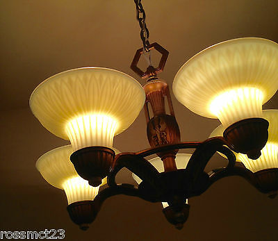 Vintage Lighting incredible 1930s chandelier by Lightolier