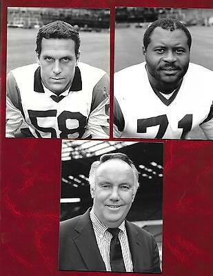 5 American Football players glossy pres photos 1987 LA Rams + Denver Broncos