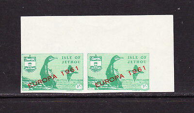 GB Locals - Channel Islands - Jethou - 1961 Europa Imperf marginal pair