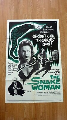 THE SNAKE WOMAN (1961) Original Vintage US One Sheet Movie Poster