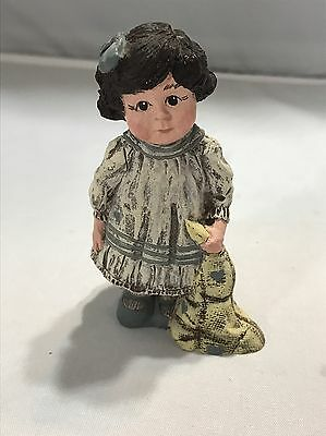 Sarah's Attic Rachel Collectible Figurine Nightgown Dragging Blanket