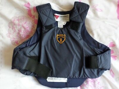 Horse riding body protector - child size. Blue