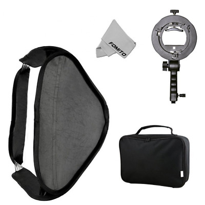 Fomito 60x60 Foldable Universal Softbox with S Model Flash Bracket for Flash Bow