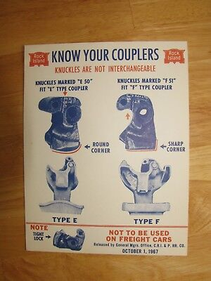 Rock Island Railroad Poster 1967 Issue - Know Your Couplers.