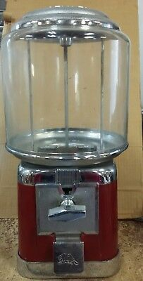 Beaver red and Chrome Candy Nut Bulk Vending Machine With Lock and Key