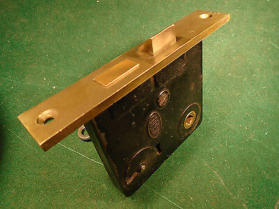 "VINTAGE CORBIN MORTISE LOCK w/KEY  WORKS GREAT!  5 1/4"" FACEPLATE (9796)"