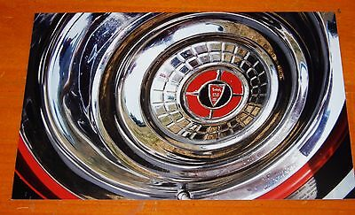 Photo 1956 Chrysler Chrome Hubcap Close Up In 2002 - American 50S Vintage
