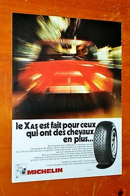 French 1972 Michelin Tires Ad With Lotus Porsche Nissan ? - Vintage Retro