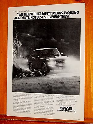 Cool 1976 Saab 99 Coupe Driving In The Dark Safety Ad - Vintage Euro 70S