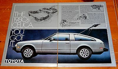 Cool 1978 Toyota Celica Gt Ad In Silver Color / Vintage Retro 70S Japanese