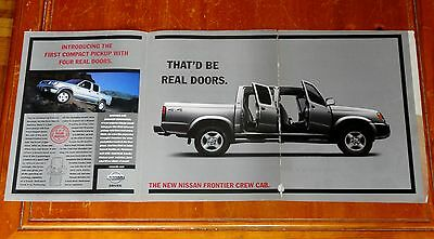 1999 Nissan Frontier Crew Cab Pickup Truck Long Cool Ad - Retro 90S
