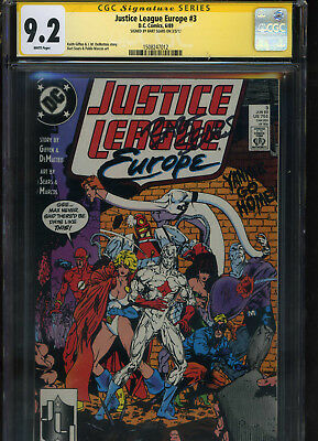 Justice League Europe #3 CGC 9.2 SS Bart Sears 1989