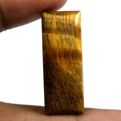 19.05 cts Natural Tiger Eye Cabochon Baguette Loose Beautiful Gemstone Jewelry