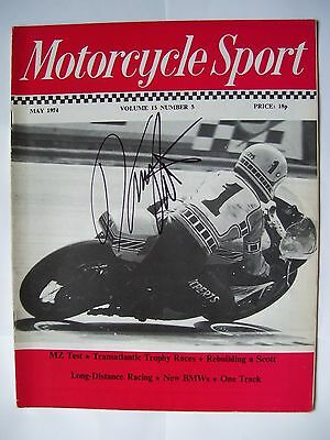 MotoGP Superbikes Kenny Roberts Hand Signed 1974 Motorcycle Sport Magazine