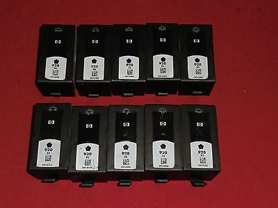 10 leere Original Drucker Patronen HP 920XL Black + Chip leer virgin