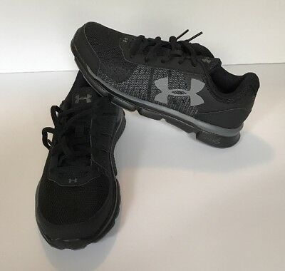 UNDER ARMOUR kid shoes. BLACK. Size 4Y (4 youth) ORIGINALLY  59.99. 23c85e531