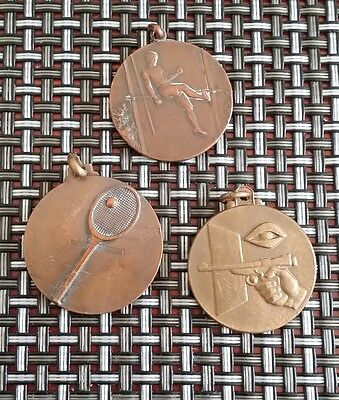 3 french  sports medals 1916. 1972 .1994