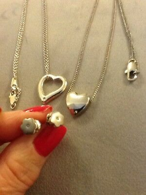 Silver Jewellery..neckláce, Pendant Chain And Earrings Bargain