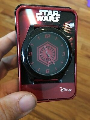 NWT Disney Star Wars First Order Adult Wristwatch With Red Band By Accutime