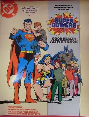Super Powers Good Health Activity Book Comic Magazine Dupont Drug Promo 1985 Vf