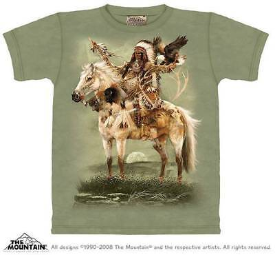 Native American Indian T Shirt The Mountain Chief Horse Headdress Tee S-4XL 5XL