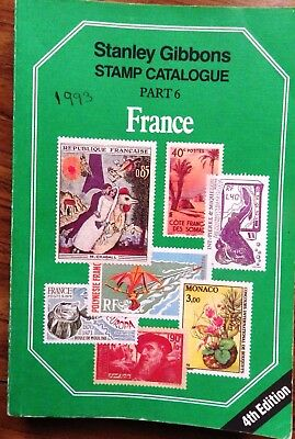 SG GIBBONS Catalogue Part 6 FRANCE 4th Edition 1993 - nice condition,some ticks
