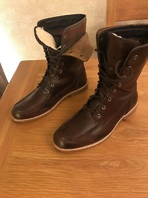 Ugg Mens Boots New Roll Top Lace Up Extremely Trendy & Comfortable Uk 10 Brown