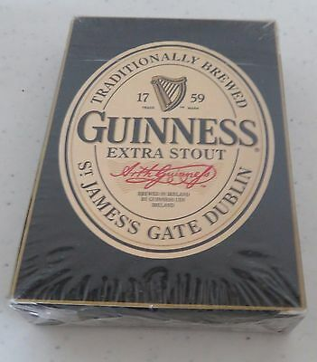 NIB Sealed Poker Guinness Stout Dublin Ireland Playing Cards