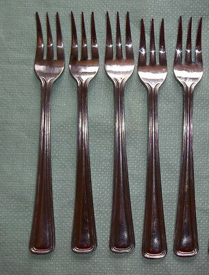 JR Japan Set of Five Stainless Steel Seafood / Cocktail Forks