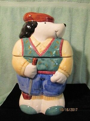Vintage Certified International Golfer Dog Cookie Jar