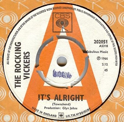 The Rocking Vickers**it's Alright**demo**freakbeat**mod**dancer**listen To It