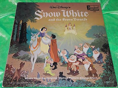 """VARIOUS : Snow white and the seven dwarfs - 1968 US re-issue 12"""" LP VG/EX"""