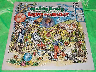 WENDY CRAIG : Stories & Songs from Listen With Mother - Original 1975 LP EX