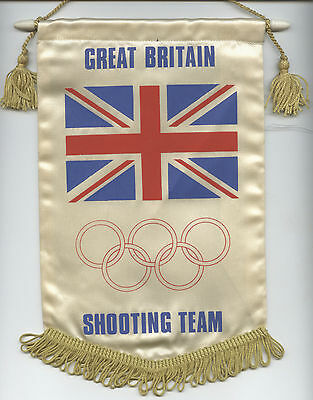 Orig.silk present pennant  Great Britain Shooting Team - Olympic Games 1972  !!