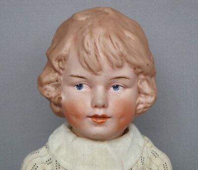 Very rare antique Gebruder Heubach character girl doll with molded hair 7956