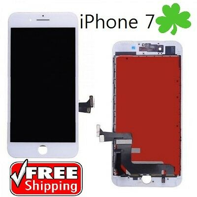For iPhone 7 LCD Display Digitizer Touch Screen Replacement Assembly White 4.7""