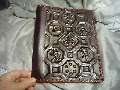 Leather Book Cover, Decorative Florentin Sal pa, Made in Italy