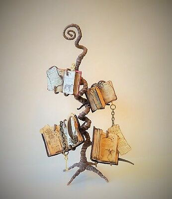 D/house Miniature Magical Spell Book Stand ~ 1/12th ~ CWM ~ Witch