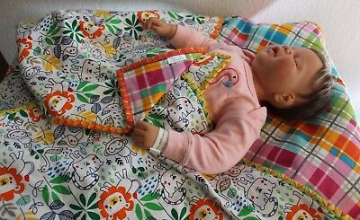 Handmade Reversible Double Flannel Baby Boy, Girl Machine Quilted Blanket/Quilt