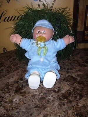 Cabbage Patch Kids BABY Boy Doll VTG. 1982 W/ PACIFIER & PAMPER AUTHENTIC CLOTHE