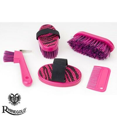 Rhinegold Glitter Junior Grooming Kit – Great Present – Crystals – PINK