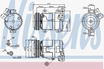 Compressor Air Conditioning Suzuki - Nissens 89519