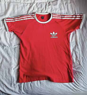 Rare 80's europa Adidas T-Shirt, Red/White size small