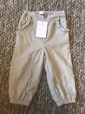 Baby The Little White Company Cord Trousers Girls Boys 9-12 Months RRP £22