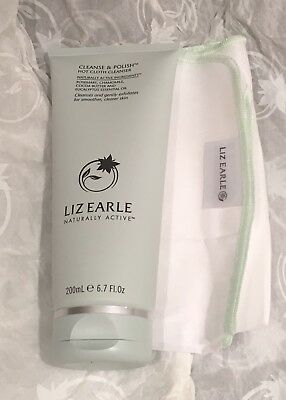 Liz Earle Cleanse and Polish 200ml & muslin Cloth hot cloth Cleanser RRP £28