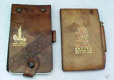 Two Vintage Souvenir Notepads In Cases Scottish Empire Exhibition 1938