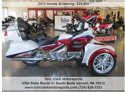 2012 Honda Gold Wing  2012 WHITE HONDA GOLDWING WITH 2017 REVERSE TRIKE KIT