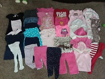 Lot Of 31 Baby Girl 12 Month Fall Winter Clothes