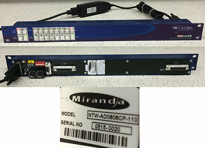 Miranda NTW-AD0808CP-110 Network Routing Switcher Series