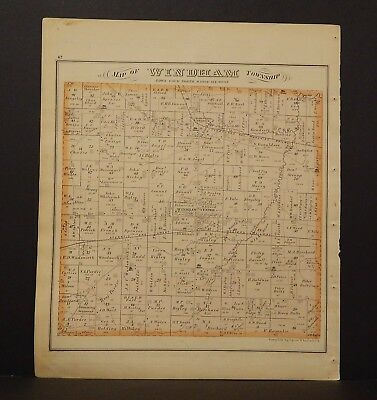 Ohio Portage County Map Windham Township 1874 Dbl Side  Y14#51